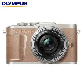 オリンパス ミラーレス一眼カメラ OLYMPUS PEN E-PL10 14-42mm EZ レンズキット E-PL10-EZLK-BR ブラウン【送料無料】【KK9N0D18P】