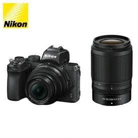 【即納】ニコン ミラーレス 一眼カメラ Z 50 ブラック ダブルズームキット Z50-WZ-BK【送料無料】【KK9N0D18P】