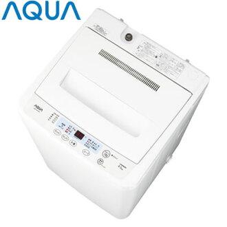AQUA 전자동 세탁기 AQW-S451-W화이트 세탁・탈수 4.5 kg
