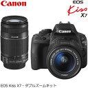 【即納】キヤノン デジタル一眼レフカメラ EOS Kiss X7 ダブルズームキット KISSX7-WKIT 【送料無料】【KK9N0D18P】
