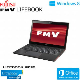 Fujitsu ultra book note PC LIFEBOOK UH UH55/M 13.3 type wide touch FMVU55MR garnet red autumn of 2013 winter model