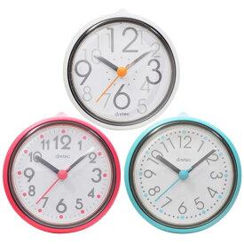 防滴時計:お風呂クロック(卓上・貼付)C-110【メール便可¥500】
