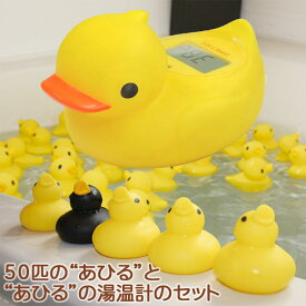 あひるのお風呂温度計(湯温計)O-238&あひる50匹のセット