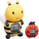 湯温計:パパジーノ時計付お風呂用温度計(みつばち)RBTM001【メール便可¥260】【05P03Dec16】
