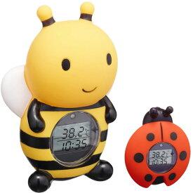 湯温計 パパジーノ 時計 お風呂 温度計 ミツバチ RBTM002 メール便可¥320