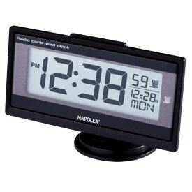 車用時計 ナポレックス デジタル 電波時計 Fizz-960 車載用 メール便可¥320