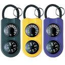 サーモ&コンパス:キーホルダー&温度計&方位磁石【メール便可¥320】