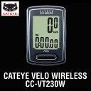 ワイヤレスコンピューター:自転車用スピードメーターCC-VT230W【メール便可¥320】