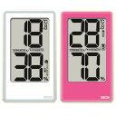 温湿度計:でか文字デジタル温度湿度計CR2000(壁掛・卓上)【メール便可¥320】