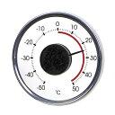 温度計 窓 ガラス 外 屋外 外気 アナログ メール便可¥320