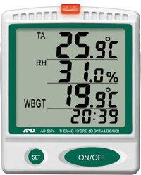 WBGT計:A&D熱中症指数計&温湿度計データロガーAD-5696