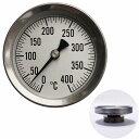 温度計 薪ストーブ 高温 ピザ窯 アナログ温度計 400℃ サーモ530 メール便可¥320