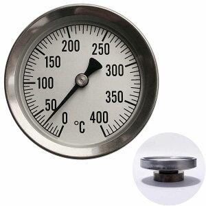 温度計 薪ストーブ 高温 ピザ窯 アナログ温度計 400℃ 重厚感 サーモ530 メール便可¥320