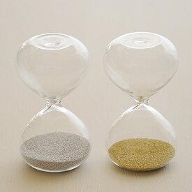 砂時計 金メッキ 1分計 銀メッキ 2分計 ガラス砂時計 メール便可¥320