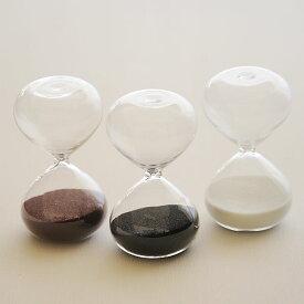 砂時計 シンプル 3分計/4分計 ガラス砂時計 メール便可¥320