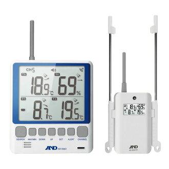 无线温湿度计:A&D无线电温湿度计:亲机子机安排AD-5663