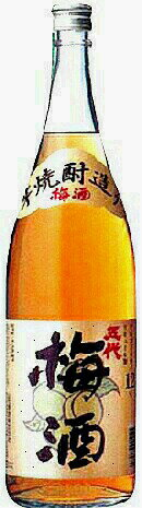 山元酒造五代梅酒  芋焼酎造り 度数12度 1800ml.e