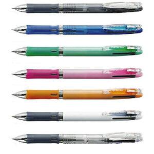 油性ボールペン クリップ-オン スリム 3C [黒/赤/青] 0.7mm 透明 B3A5-C