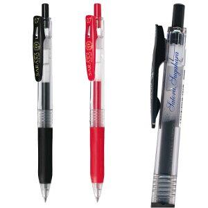 UV 名入れ ゼブラ サラサクリップ0.7mm JJB15さらさら書き味粗品 ノベルティ などに印字色の選択は1色まで 10本以上 のご利用でお願いします名入れ無料 送料別名入 ZEBRA SARASA CLIP ボールペン プ