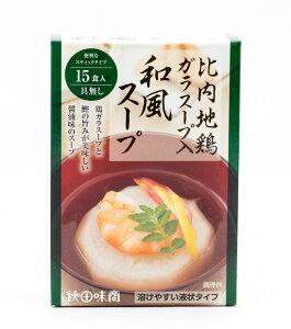 秋田味商 比内地鶏ガラスープ入「和風スープ」11g×15食入
