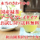 国産緑茶なのにアールグレイ ティーバッグ! ベルガモット緑茶 お試し5P入り緑茶 煎茶 メール便(DM便)送料無料(am02)