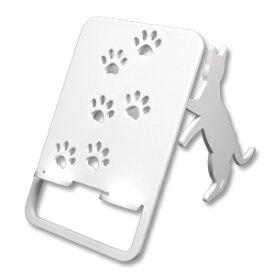 【スマホスタンド】【送料無料】猫 おしゃれ 立ち猫(ワンピースタイプ)の立ったネコゃんがスマホ・iPhoneを支えます。鉄製で安定感があり、スマートフォン アイフォン アンドロイド アイパッドも大丈夫!