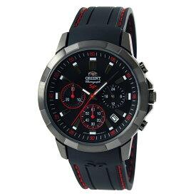 オリエント ORIENT 腕時計 クオーツ SPモデル クロノグラフ ブラック/レッド 日本製 海外モデル SKV00005B0 メンズ [国内正規品]