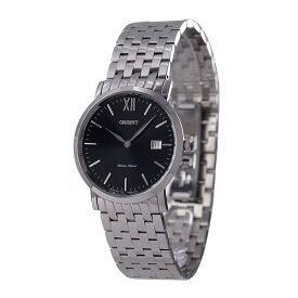 オリエント ORIENT 腕時計 クオーツ ブラック文字盤 7連ブレス 海外モデル FGW00004B0 メンズ [国内正規品]