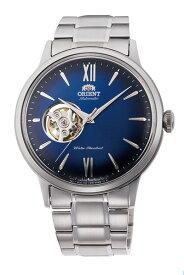 オリエント ORIENT 腕時計 セミスケルトン 機械式 自動巻(手巻付き) 日本製 オープンハート ネイビー文字盤 RN-AG0017L メンズ【国内正規品】