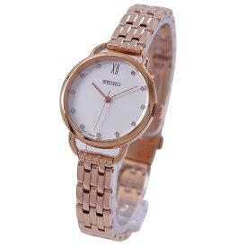 セイコー SEIKO 腕時計 クォーツ 日本製ムーブメント 海外モデル ホワイト文字盤 SUR698P1 レディース [逆輸入品]