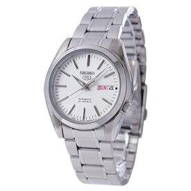 セイコー SEIKO 5 腕時計 海外モデル 【日本製】自動巻き ホワイト文字盤 SNKL41J1 メンズ [逆輸入品]