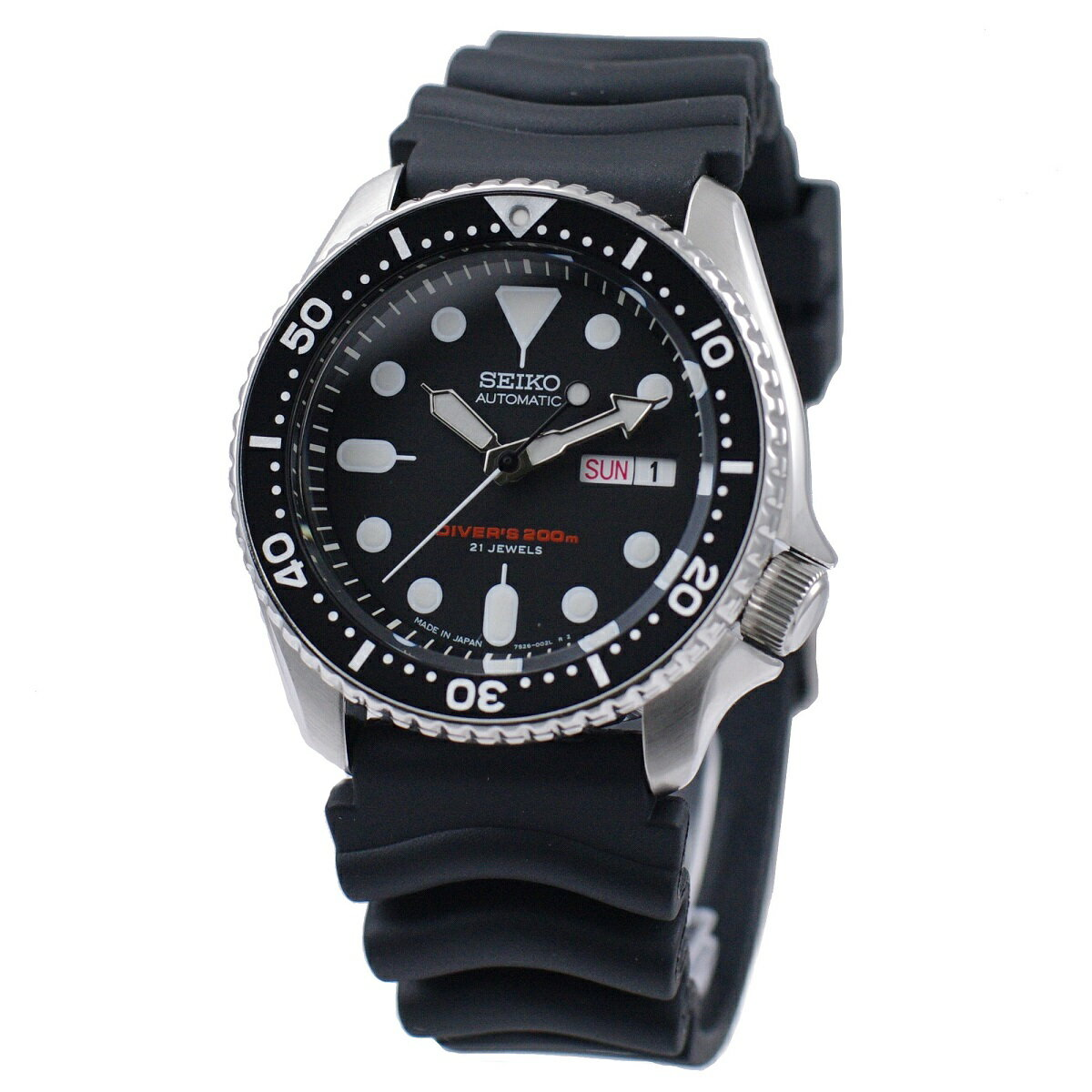 セイコー SEIKO 腕時計 海外モデル 自動巻き 日本製 ダイバーズ 200M防水 BLACK BOY ブラックボーイ SKX007J1 メンズ [逆輸入品]