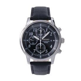 セイコー SEIKO 腕時計 クオーツ クロノグラフ 100M防水 ブラック文字盤 SNDC33P1 メンズ [逆輸入品]