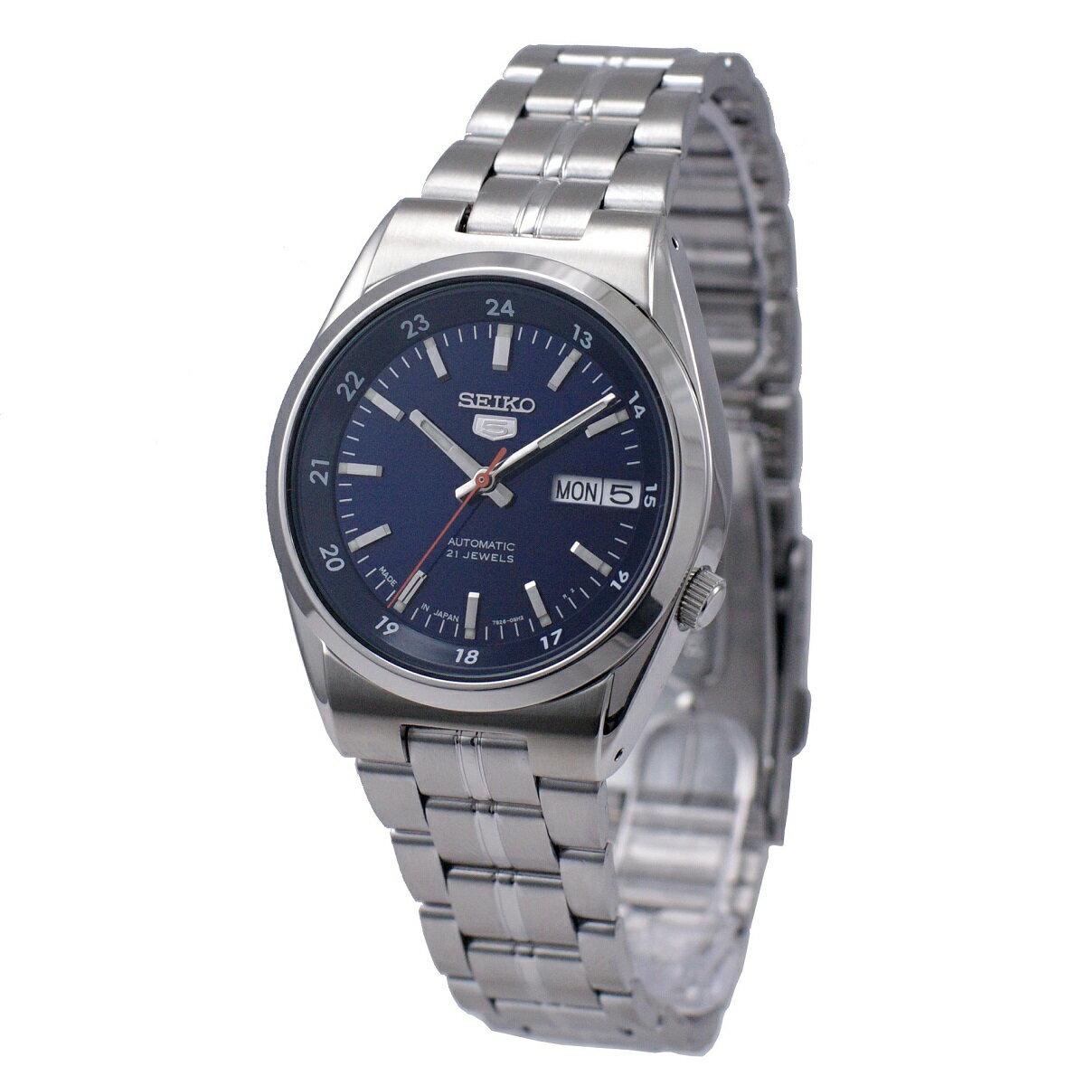 セイコー SEIKO 5 腕時計 海外モデル 自動巻き 日本製 ネイビー SNK563J1 メンズ [逆輸入品]
