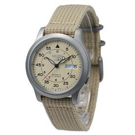 セイコー SEIKO 5 腕時計 海外モデル 自動巻き ミリタリー ベージュ SNK803K2 メンズ [逆輸入品]