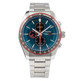 セイコー SEIKO 腕時計 ソーラー SOLAR クロノグラフ 100M防水 日本製ムーブメント 海外モデル グリーン SSC717P1 メンズ [逆輸入品]