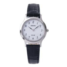 セイコー SEIKO 腕時計 ソーラー SOLAR 日本製ムーブメント 海外モデル ホワイト文字盤 革ベルト SUP369P1 レディース [逆輸入品]