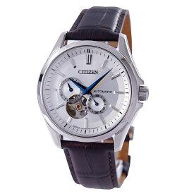 シチズン CITIZEN 腕時計 自動巻き オープンハート 日本製 革ベルト NP1010-01A メンズ【国内正規品】