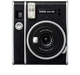 【フィルム20枚+純正バッグセット】FUJIFILM フジフイルム インスタントカメラ チェキ instax mini40 INS MINI 40 ブラック レザー調