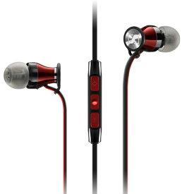 【SENNHEISER】M2 IEi BLACK RED MOMENTUM In-Ear i カナル型イヤホン Apple iOS向けリモコン・マイク付 ブラック レッド ゼンハイザー メーカー2年間保証