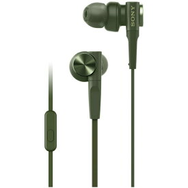 【SONY】 MDR-XB55AP Green グリーン カナル型 イヤホン EXTRA BASS 重低音モデル リモコン・マイク付き ソニー メーカー1年間保証 【海外仕様】