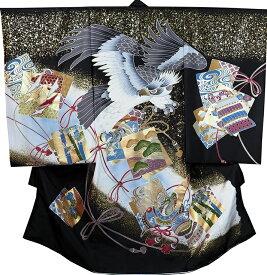 お宮参り 着物 男の子 男児祝着 正絹のしめ 初着 新品d2041
