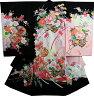 お宮参り 女の子 着物 女児祝着 正絹 のしめ 初着 産着 新品j2009