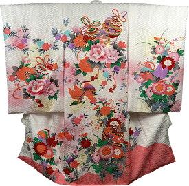 お宮参り 着物 女 女児祝着 正絹 のしめ 初着 産着 新品j2014