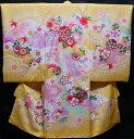 お宮参り着物 女児祝着 正絹 のしめ 初着 産着 新品j3045