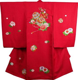 신사가 여자 기모노 소녀 祝着 正絹 のしめ 최초 입고 배 냇 저고리 신품 j3901