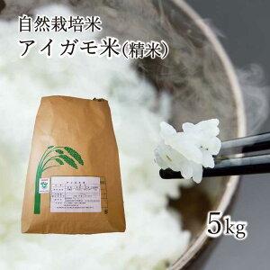 【送料無料】新米 令和元年産 アイガモ米 精米5kg 農薬や化学肥料を一切使わない栽培方法のコシヒカリ100% あいがも米 合鴨米