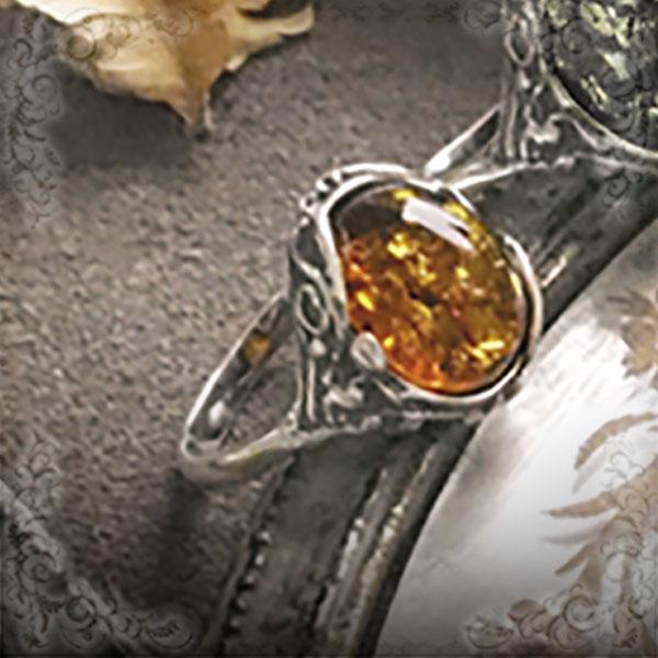 【天然琥珀】リング 指輪 こはくアクセサリー  シルバー【アンティーク】【ak0889】【4ツ星ランク】【天然石・パワーストーン】ギフト 贈り物に プレゼントに ジュエリー