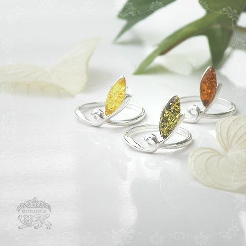 【天然琥珀】Silver925・シルバーリングのサイズ変更!【天然石・パワーストーン】ギフト 贈り物に プレゼントに ジュエリー