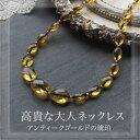 【天然琥珀】【j224】【5ツ星】森の宝石ネックレス【ネックレス】【琥珀 こはく 】